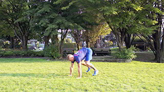 outdoor push-up burpee - step 2