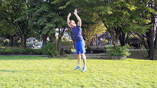 outdoor push-up burpee - step 3