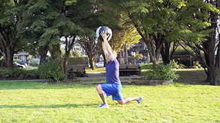 outdoor reverse lunge press - step 2