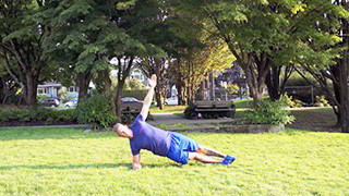 outdoor side plank - step 3