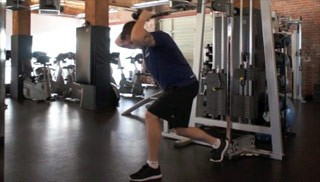 overhead cable tricep extension - step 1