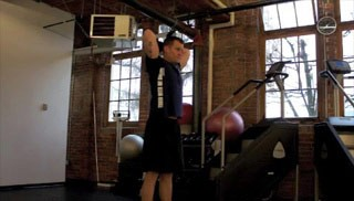 overhead tricep extension  - step 1