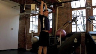 overhead tricep extension  - step 2