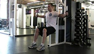 pec deck chest fly - step 1