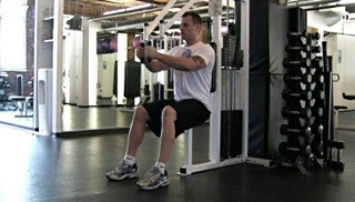 pec deck chest fly - step 2