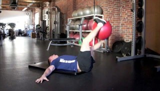 pendulums with the stability ball - step 3