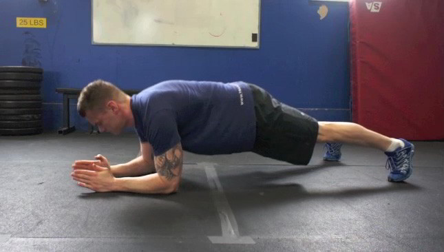plank to push up - step 1