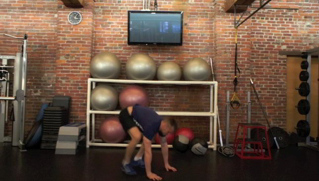 Push Up Plank Burpees Exercise