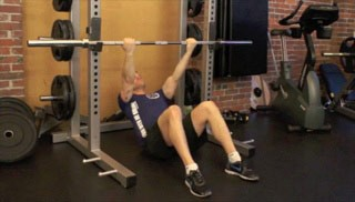 reclined body rows - step 1