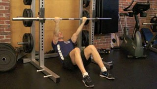 reclined body rows - step 3