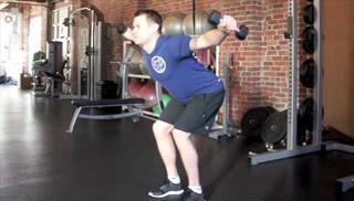 Picture of a male doing Reverse Dumbbell Fly Exercise