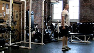 reverse dumbbell lunges - step 1