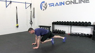 running mountain climbers - step 1