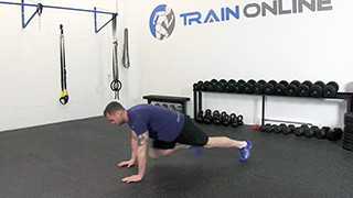 running mountain climbers - step 2