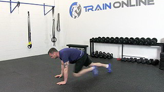 running mountain climbers - step 3