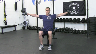 seated dumbbell lateral raise  - step 2