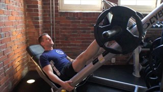 seated leg press machine - step 1