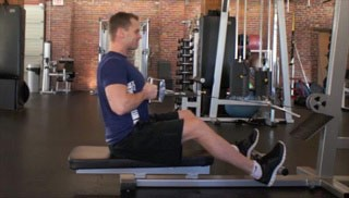 Picture of a male doing Seated Row Exercise
