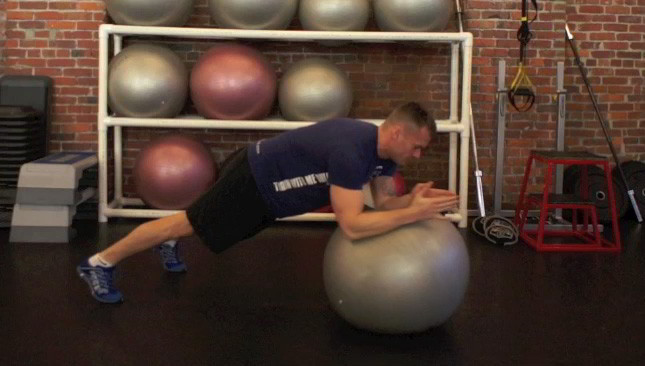 shoulder rolls on stability ball - step 3