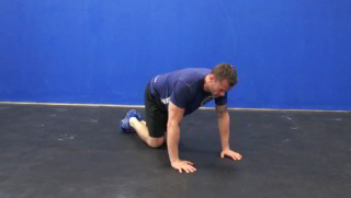 side glute kick outs - step 1