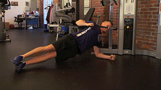 side plank cable rows - step 2