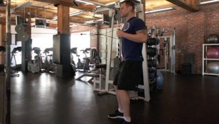 Picture of a male doing Single Arm Cable Row Exercise