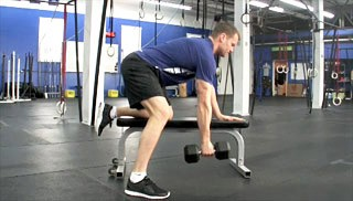 single arm dumbbell row - step 1