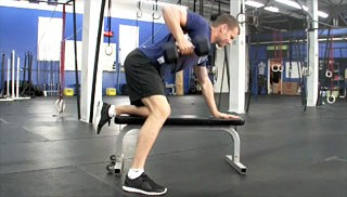 single arm dumbbell row - step 2