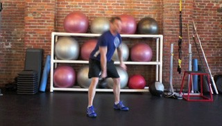 single arm kettlebell swing - step 1