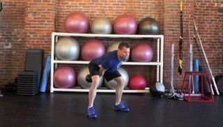 single arm kettlebell swing - step 2