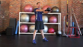 single arm kettlebell swing - step 3