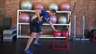 single arm row - step 2