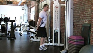 single arm tricep cable extension - step 2