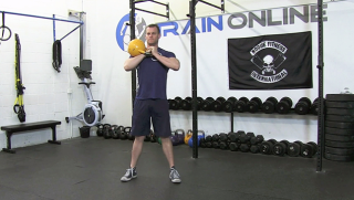 single side kettlebell front squat - step 3