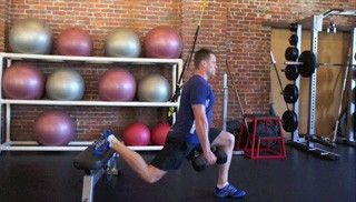 split dumbbell lunge - step 2