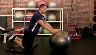 stability ball roll outs - step 3