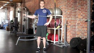 Picture of a male doing Standing External Rotation Exercise
