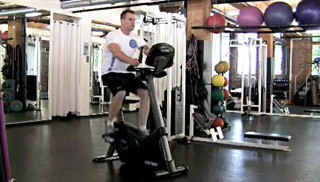 Picture of a male doing Stationary Bike Exercise
