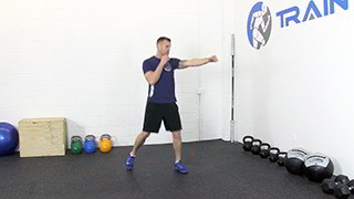 Picture of a male doing Step Jab Exercise