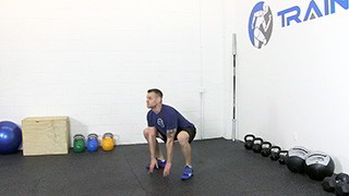 touch drops squats - step 1