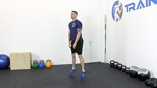 Picture of a male doing Touch Drops Squats Exercise