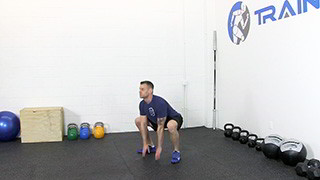 touch drops squats - step 3