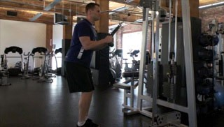 tricep extensions w/ cable machine - step 3