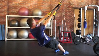 trx body weight row - step 1