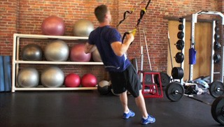 trx body weight row - step 2