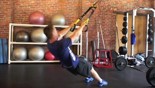 trx body weight row - step 3