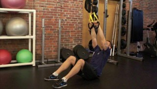 trx seated pull-up - step 1