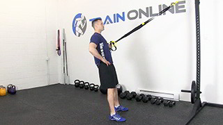 trx single arm row - step 1