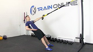 trx single arm row - step 2