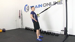 trx single arm row - step 3